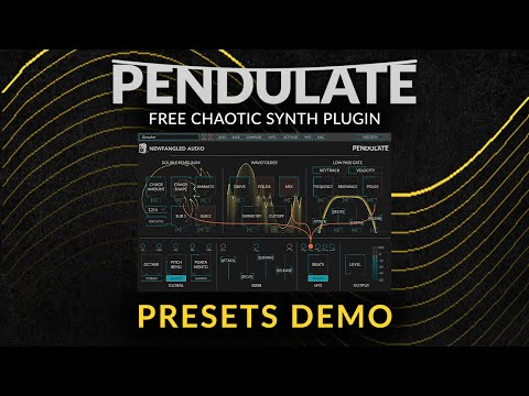 New Pendulate Chaotic Synth Plug-in by Newfangled Audio (Presets Demo)